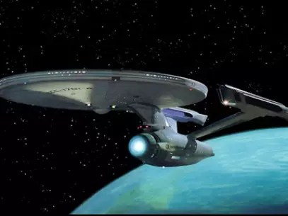 Nave Enterprise é o símbolo da saga Jornada nas Estrelas Foto: Reprodução