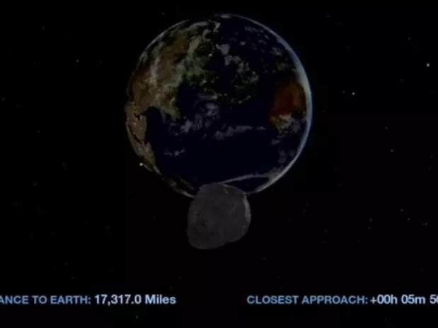 Apesar de não haver risco de colisão com a Terra, asteroide pode atingir satélites Foto: Nasa / Reprodução