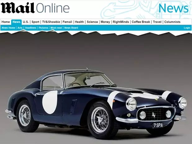 O modelo é equipado com motor 3.0 l de doze cilindros que leva o carro a até 243 km/h Foto:  / Reprodução