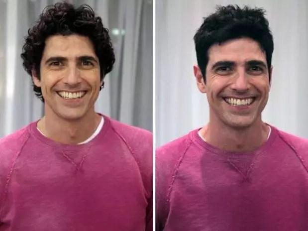 Reynaldo Gianecchini deu adeus aos cachos de seu personagem Nando de 'Guerra dos Sexos' Foto: TV Globo / Divulgação