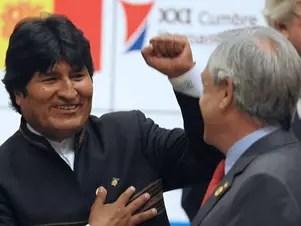 """Morales dijo que Piñera ha tenido """"enormes contradicciones"""" al hablar del diferendo marítimo. Foto: AFP"""