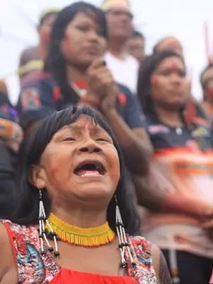 Torcida do Gavião Kyikatejê apoia o time na Curuzu Foto: Filipe Faraon / Especial para Terra