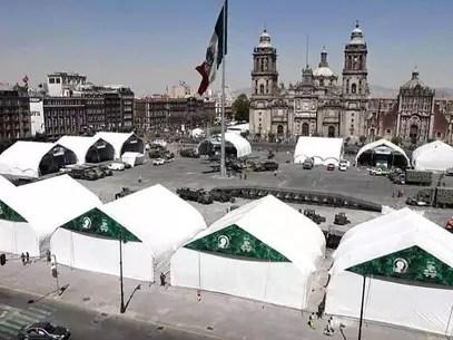 Se prevé que la exposición en la plancha del Zócalo capitalino permanezca hasta el 6 de marzo. Foto: Archivo