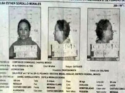 La copia de la signalética de Elba Esther Gordillo se filtró en redes, luego de que fue encarcelada. Foto: Tomada de internet