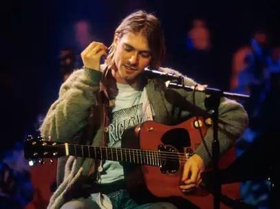 Kurt Cobain, vocalista do Nirvana, morto em 1994 Foto: Getty Images