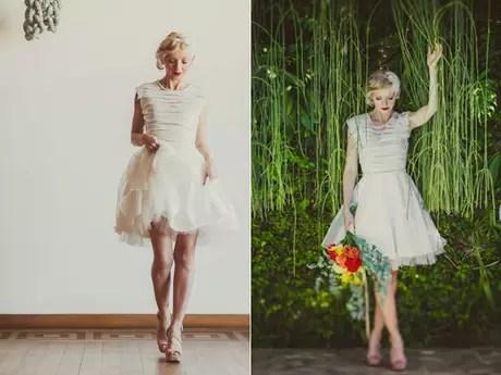 <p>Vestido de organza de seda, aplicações de fitas e pérolas da estilista Carol Hungria</p>