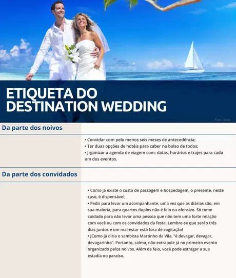 A etiqueta do destination wedding