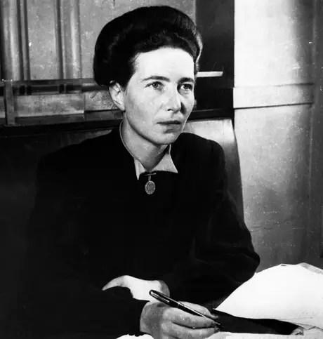 Simone de Beauvoir manteve um relacionamento com o filósofo Jean-Paul Sartre
