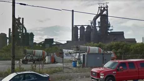 Fornos da empresa United States Steel em Detroit podem ser uma das explicações para o ruído de Windsor | Imagem: Google Street View