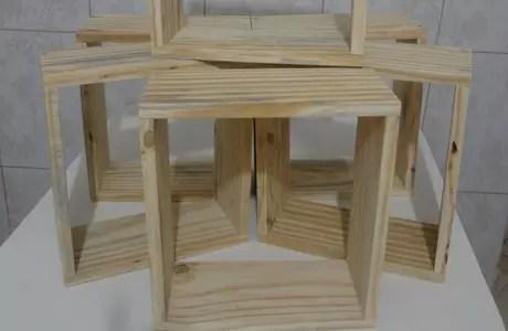 4. Você vai poder fazer vários nichos de madeira seguindo nosso tutorial