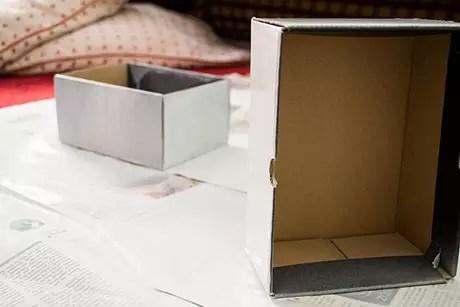 8. Nosso tutorial de como fazer nichos de papelão é bem tranquilo de reproduzir