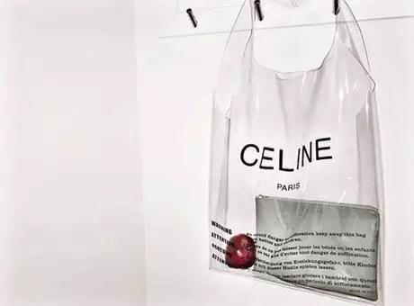 A bolsa da Céline tem o mesmo formato de uma sacola plástica
