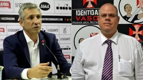 Alexandre Campello e Roberto Monteiro, presidentes do Vasco e do Deliberativo, respectivamente. Veja galeria L!