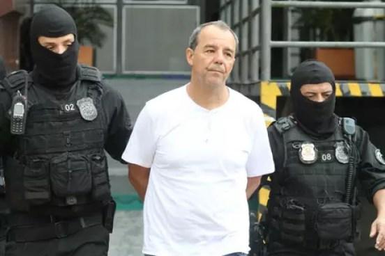 Sergio Cabral no IML de Curitiba