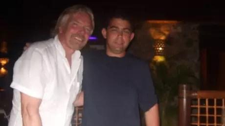 Andrew conheceu muitas celebridades e ídolos, incluindo Richard Branson, fundador do grupo Virgin