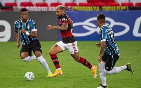 Gabigol estava sem fazer um gol há sete partidas consecutivas (Foto: Alexandre Vidal / Flamengo)