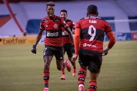 Flamengo está a uma vitória da classificação (Foto: Alexandre Vidal/Flamengo)