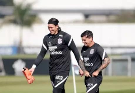 Cássio e Fagner: Top 20 no clube (Foto: Rodrigo Coca/Ag. Corinthians)