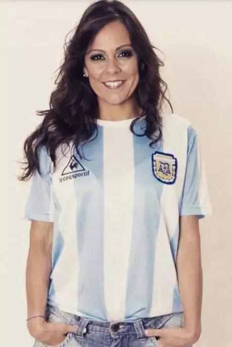 Fabíola Andrade vai torcer para a Argentina contra o Brasil (Foto: Reprodução/Redes sociais)