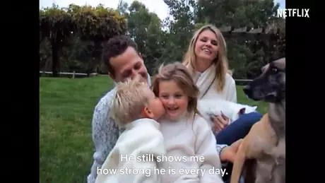Wife, Corinna, and children Gina-Maria and Mick testify in the documentary