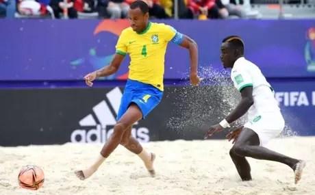 Catarino scored one of Brazil's goals in the elimination for Senegal (Photo: Octavio Passos/FIFA)