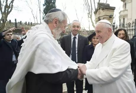 Di Segni called for an end to the Pope's 'hostile language'