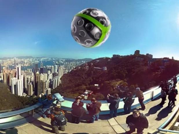 Equipamento registra as imagens em 360º quando jogado para o alto Foto: Reprodução