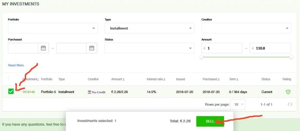 RoboCash Zweitmarkt Kredit verkaufen
