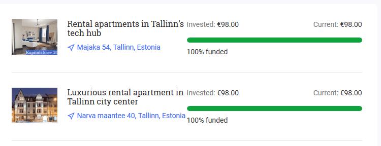 Meine zwei Reinvest24 Projekte