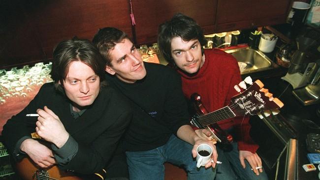 Fra lanseringen av Motorpsychos plate «Blissard» i 1996. Fra venstre Bent Sæther, Håkon Gebhardt og Hans Magnus Ryan. (Foto: Lise Åserud, NTB Scanpix.jpg)
