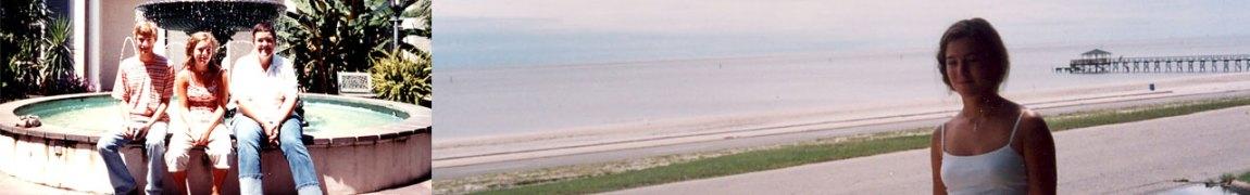 To bilder av Anne tatt foran huset i Gulfport(Foto: Privat)