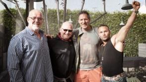 Sterke gutter: Odd Haugen, Ulf Bengtsson, Ralf Möller og Daniel Stisen. (Foto: Lars Haugdal Andersen, NRK)