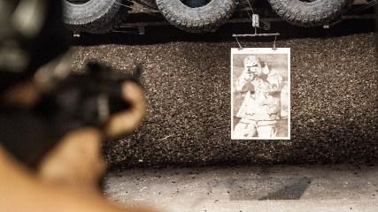 """Her går det ut over en blink av typen """"al-Qaida"""". (Foto: Lars Haugdal Andersen, NRK)"""