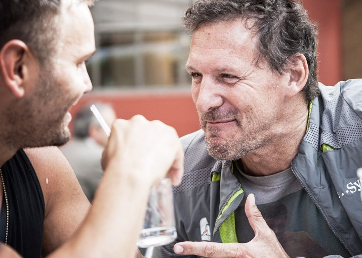 Ralf Möller har spilt kjempe i flere actionfilmer, f. eks. Gladiator. (Foto: Lars Haugdal Andersen, NRK)