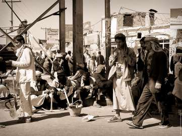 Khattygging på gata i hovedstaden Sana'a, Jemen. (Foto: Ingo Bernhardt / CC BY 2.0)
