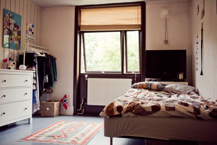 Et av rommene på Nordnorsken. (Foto: Tom Øverlie, NRK)