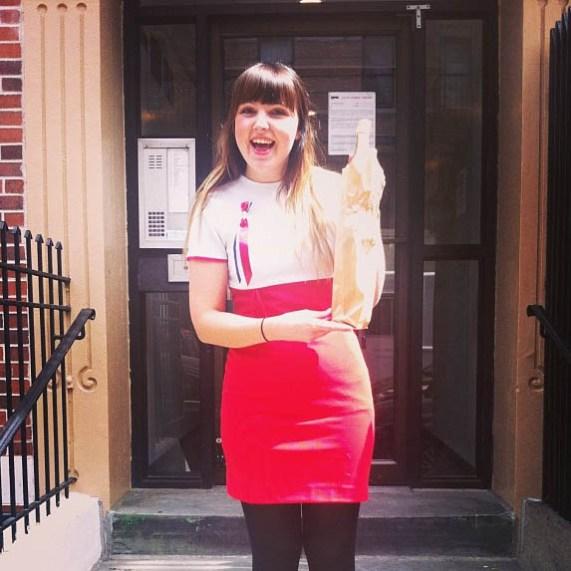 Dokumentarist Mari Garås Monson på besøk i New York (Foto: Sarah Winona Sortland, Instagram)