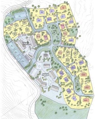 Huldra økogrend i Hurdal skal være innflyttingsklar ved juletider (Illustrasjon: hurdalecovillage.no)