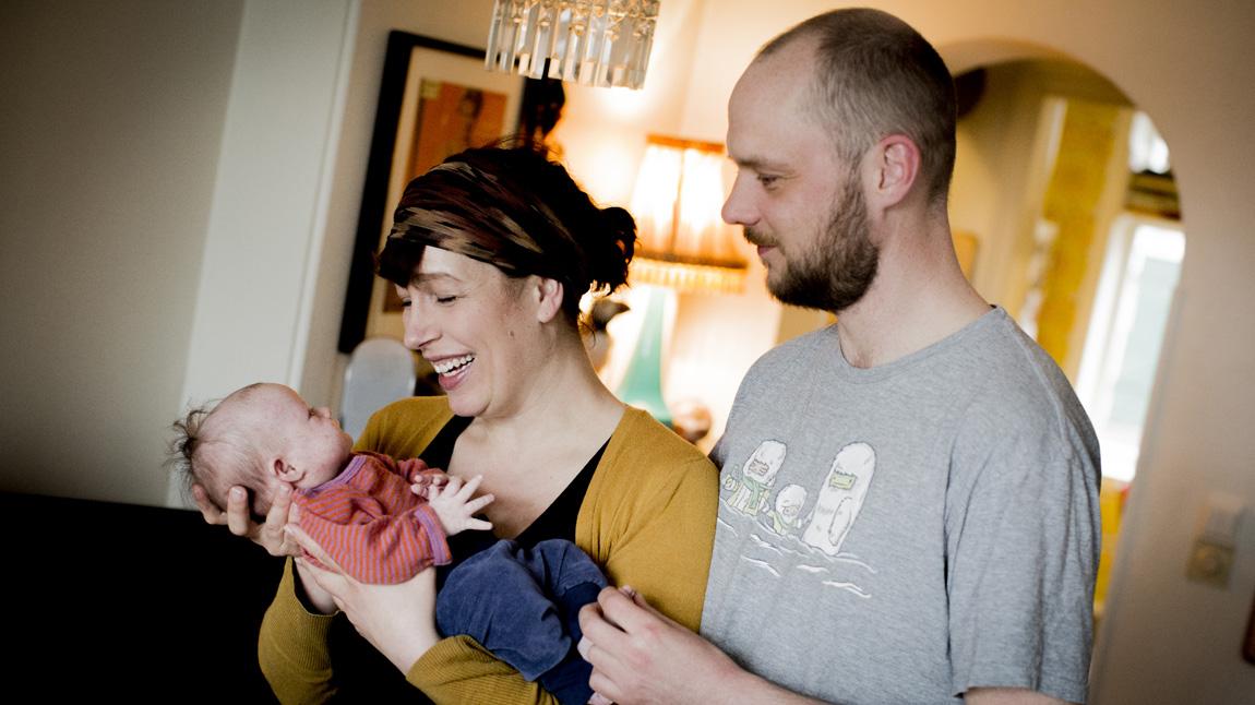 Frida, Ellen og Ole-André. (Foto: Jonas Jeremiassen Tomter, NRK)