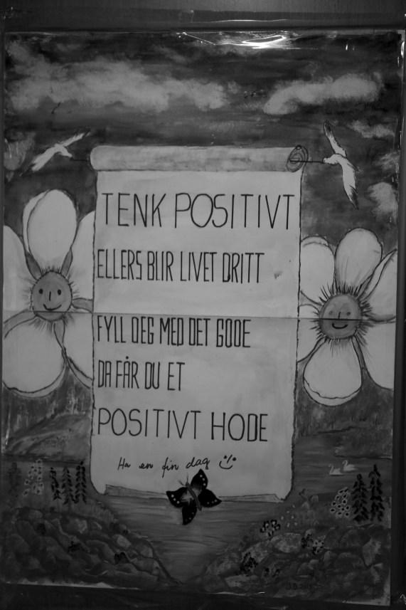 """Tenk positivt"" (Foto: Simen Øvereng)"
