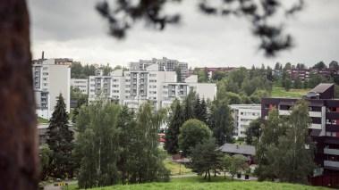 Her i Oslo øst er det mange innvandrerfamilier som bor. (Foto: Rashid Akrim, NRK)