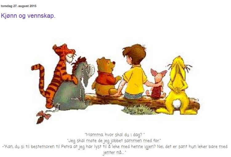 """Skjermdump fra mammabloggen """"Petrus og Petrine"""""""