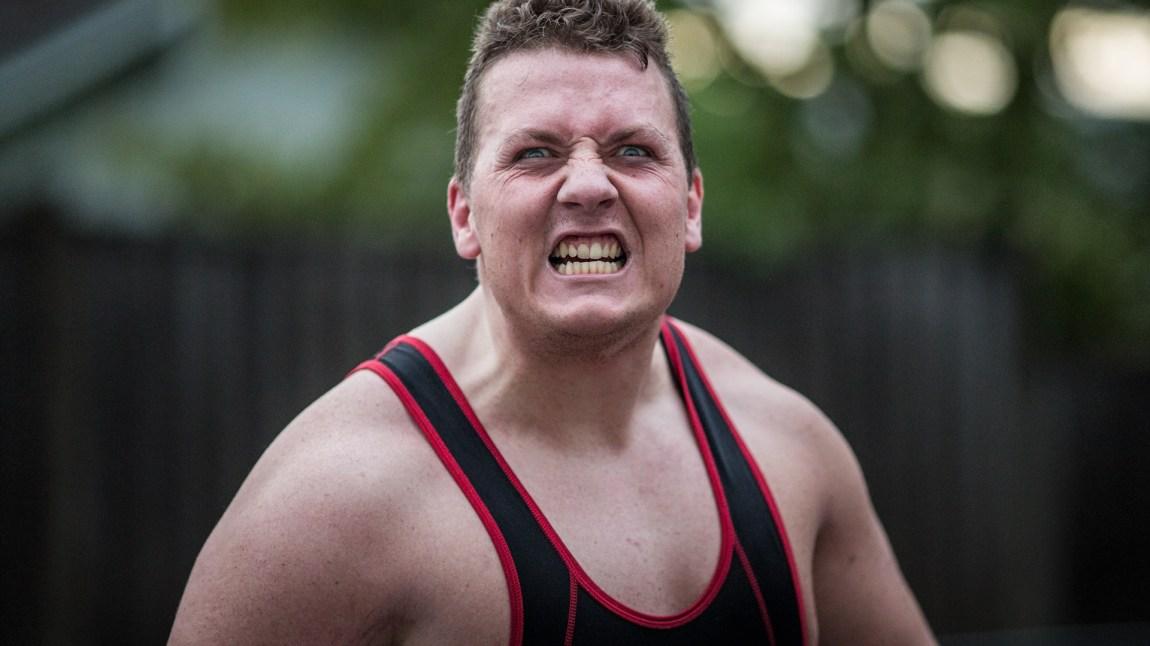 Håvard Ryan (29) når han er «Hannibal». (Foto: Kim Erlandsen, NRK)
