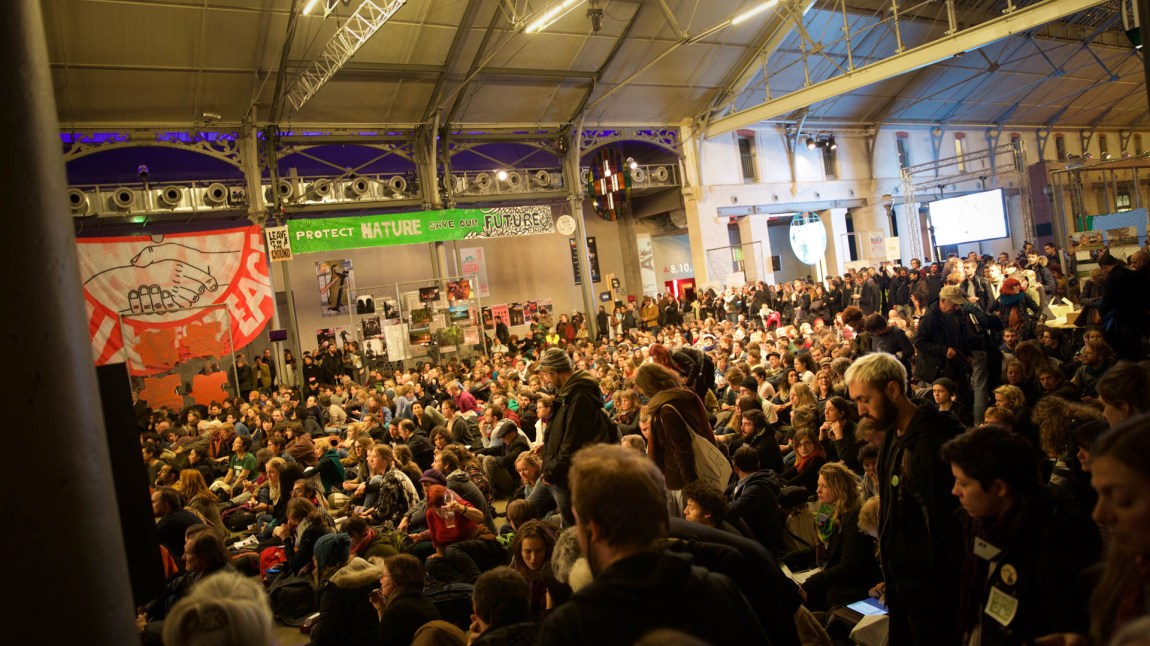 3000 miljøaktivister fra hele verden var samlet i Paris under klimatoppmøtet. (Foto: Anne Dorte Lunås, NRK)