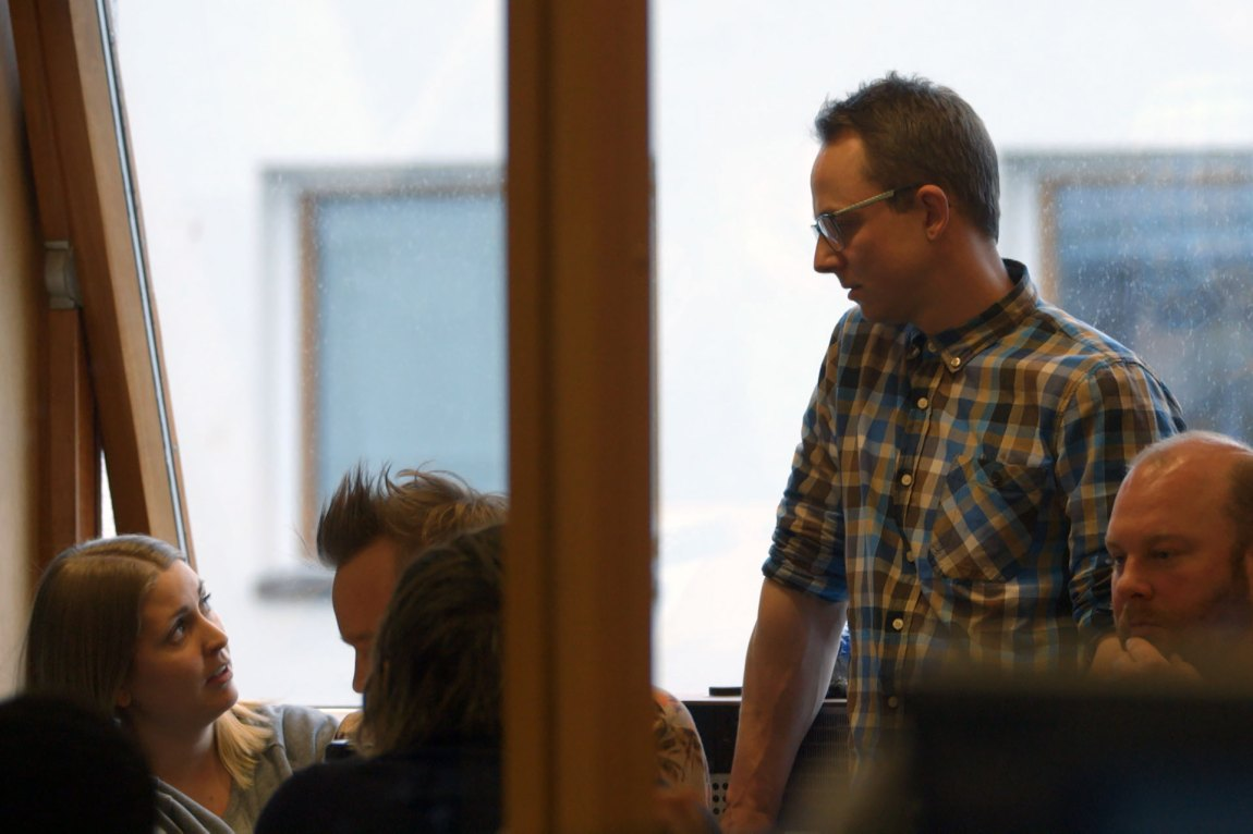 Ludvigs kolleger i P3 la merke til forandringen han gikk gjennom. Foto: Tor Edvin Eliassen