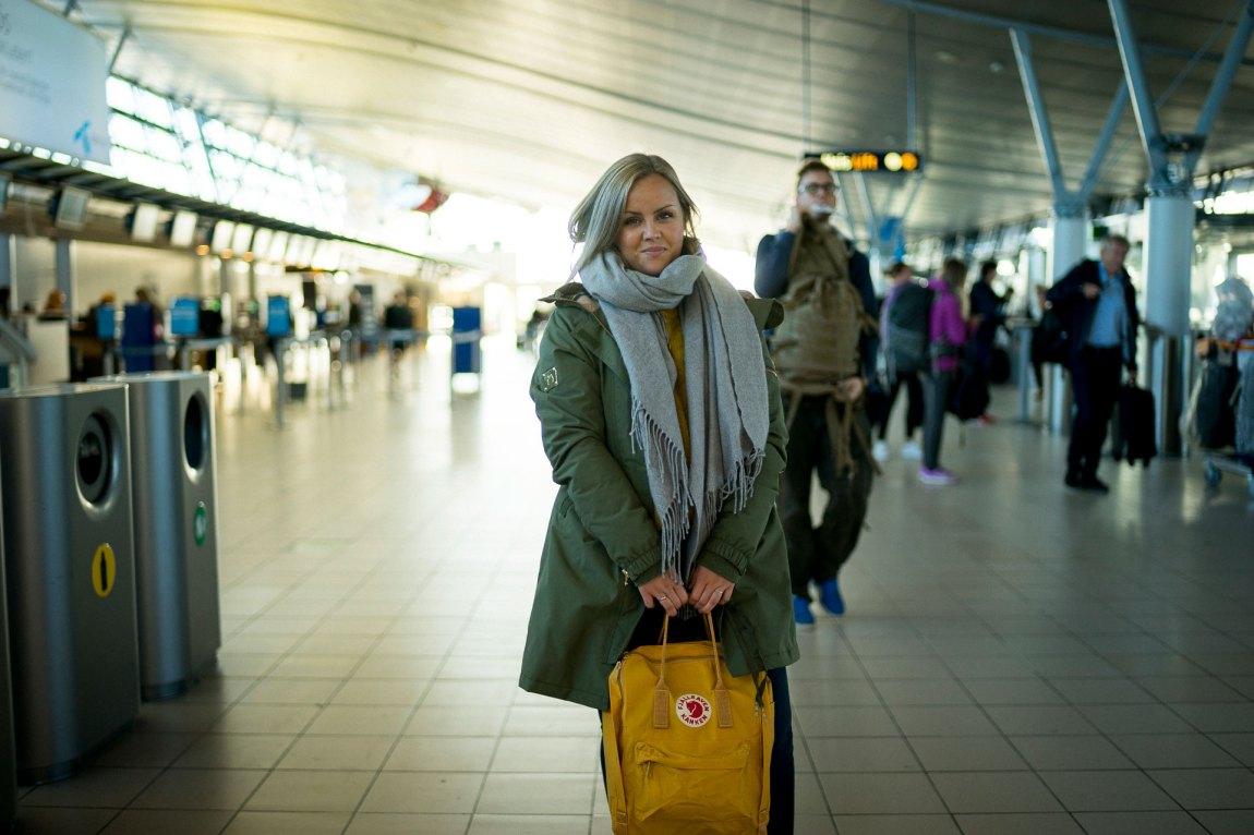 Marie er ferdig pakka er klar for å reise til Mali.  Det lenge til ho skal heim neste gong. Foto: Lars Erik Andreassen
