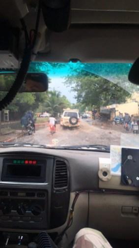 Slik ser regntida ut i byen. Foto: Marie