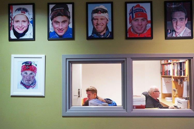 En rekke store skistjerner, deriblant Petter Northug og Eldar Rønning, har gått på Meråker videregående. Foto: Mona Sprenger