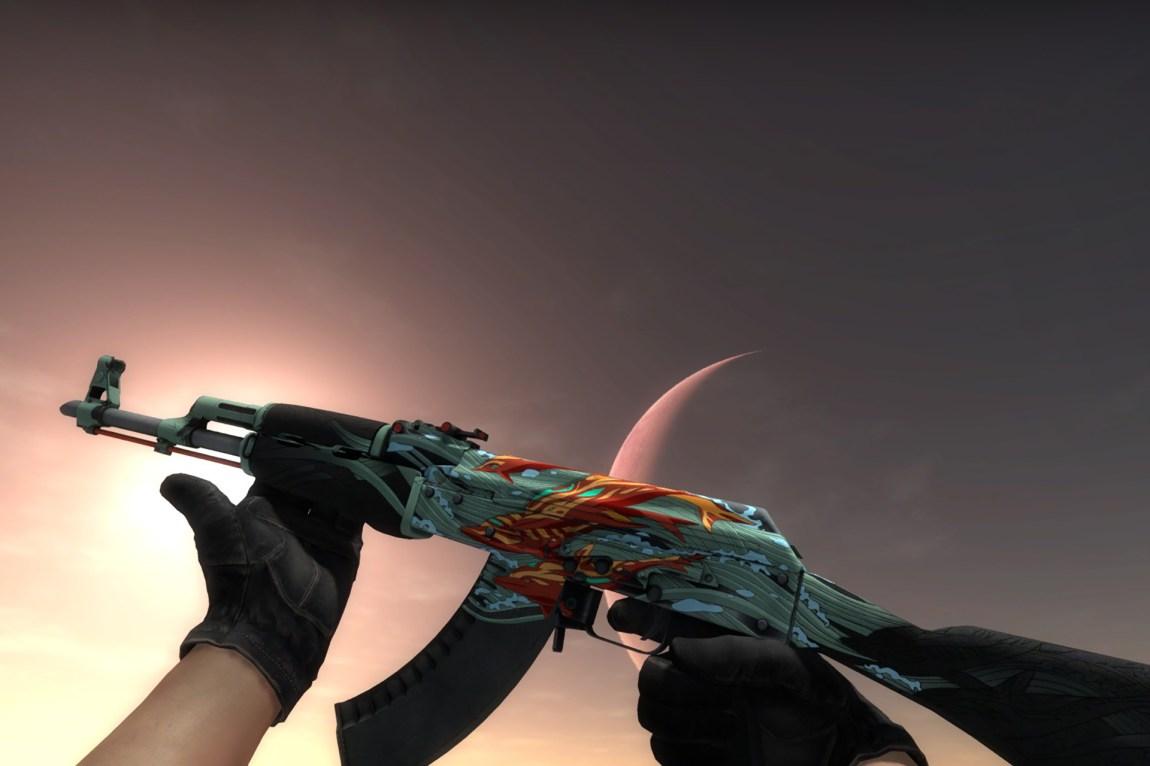 I CS:GO kan du gamble med grafiske effekter på våpnene i spillet, såkalte skins. Foto: Skjermdump / CS:GO