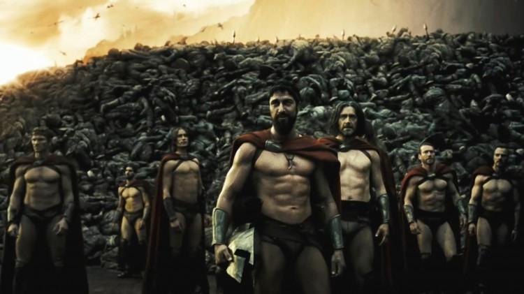 Kong Leonidas (Gerard Butler) og hans menn i 300 (Foto: Warner Bros. Entertainment Norge AS)